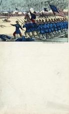 04x069.18 - Union troops marching into battle, Civil War Illustrations from Winterthur's Magnus Collection